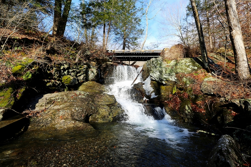Waterfall gushes as Spring time draws near in the WOA Dover property